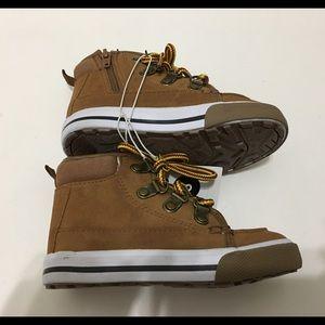 Cat & Jack toddler boy ankle tan boots sz 8